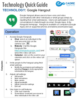 Google Hangout Quick Tech Guide