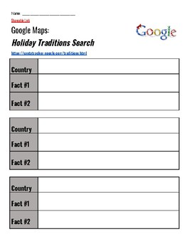Google Holiday Traditions Map Project