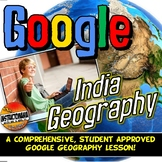 Google Classroom India Physical Geography Lesson & Map Activity with Quiz!