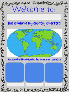 Google Interactive COUNTRY Report for Intermediate Grades