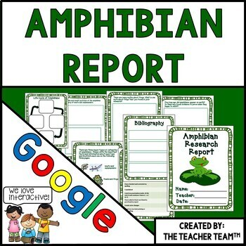 Google Drive Amphibian Report Interactive Notebook for Goo