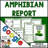 Amphibians | Amphibian Research Report | Google Classroom Activities
