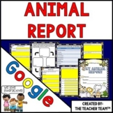 Google Drive Animal Report Interactive Notebook for Google