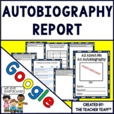 Google Drive Autobiography Report Interactive Notebook for Google Classroom
