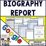 Google Drive Biography Report for Google Classroom