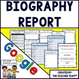 Google Drive Biography Report Interactive Notebook  for Google Classroom