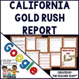 California Gold Rush  Report Interactive Notebook Google Drive Activities