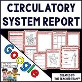 Google Drive Human Body Circulatory System Report for Google Classroom