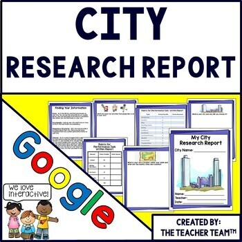 Google Drive City Report Interactive Notebook for Google C