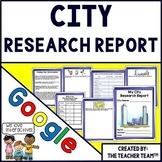 City Report Interactive Notebook for Google Drive Activities