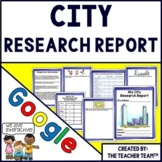 City Report Interactive Notebook for Google Drive Activities