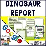 Google Drive Dinosaur Report Interactive Notebook for Google Classroom