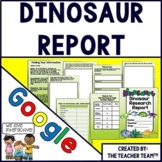 Dinosaur Report Interactive Notebook Google Drive Activities