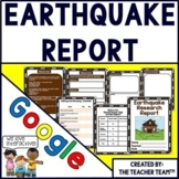 Google Drive Earthquake Report Interactive Notebook for Google Classroom