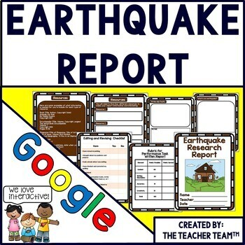 Earthquakes research report