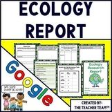 Ecology Report Interactive Notebook Google Drive Activities