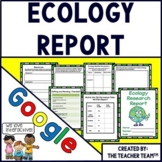 Ecology Project | Ecology Research Report | Google Classroom Activities