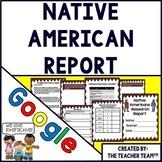 Native American Report Interactive Notebook Google Drive Activities