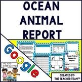 Ocean Animal Report Interactive Notebook Google Drive Activities