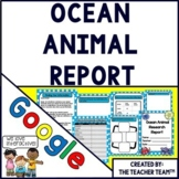 Ocean Animal Report Interactive Notebook Google Drive Activities