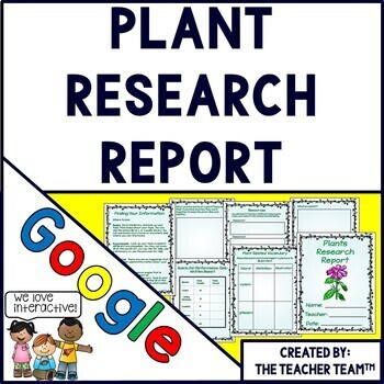 Google Drive Plants Report Interactive Notebook for Google
