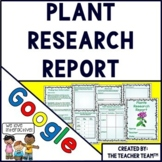 Plants| Plant Research Report | Google Classroom Activities