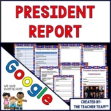 Google Drive President Report Interactive Notebook for Google Classroom