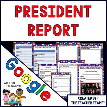 Google Drive President Report for Google Classroom