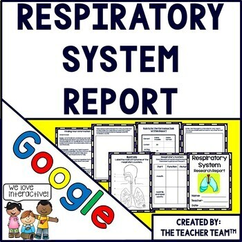Google Human Body Respiratory System Interactive Notebook for Google Classroom