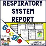 Respiratory System Human Body Report Interactive Notebook Google Activities