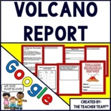 Google Drive Volcano Report Interactive Notebook for Google Classroom