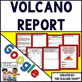 Volcano Report Interactive Notebook Google Drive Activities