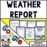Weather Report Interactive Notebook Google Drive Activities