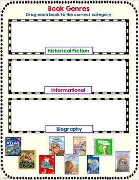 Paperless Digital Task Cards for Google Classroom Reading Genres Study