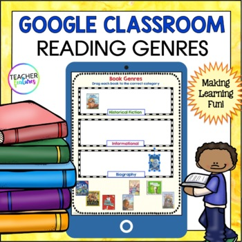 Google Classroom Activities | READING GENRES | Digital Task Cards