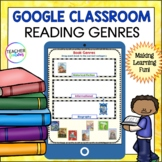 Google Classroom Reading | READING GENRES | Digital Task Cards