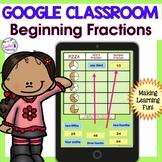 Google Classroom Math | BASIC FRACTIONS | Digital Task Cards