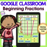 Google Classroom Math   Google Classroom FRACTIONS   Digital Task Cards