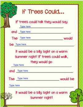 Google Classroom Poetry Writing (Earth & Nature Theme)