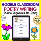 Google Classroom Activities POETRY WRITING UNIT (Earth & Nature Theme)