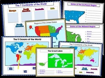 GOOGLE CLASSROOM ACTIVITIES CONTINENTS & U.S. REGIONS