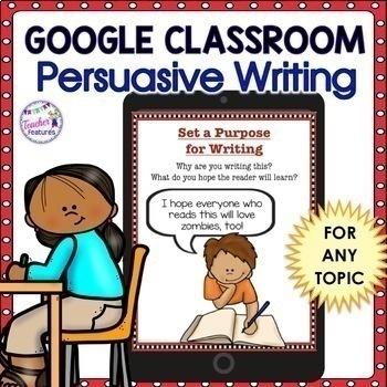 Google Classroom Activities | PERSUASIVE WRITING Graphic Organizers