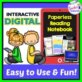 GOOGLE CLASSROOM ACTIVITIES | Reading Interactive Notebook | DIGITAL TASK CARDS