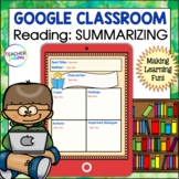 Google Classroom Activities For Reading SUMMARIZING Graphic Organizers