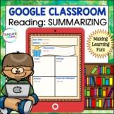 for Google Classroom Reading : SUMMARIZING Graphic Organizers 2nd & 3rd Grade