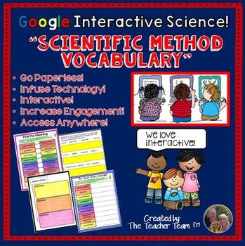 Scientific Method Vocabulary Biology Google Drive Activities
