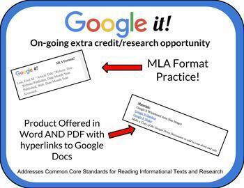 Google It! Research Activity