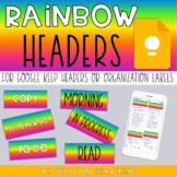 Google Keep Headers | BRIGHT RAINBOW