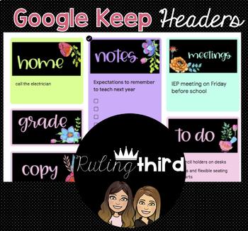 Google Keep Headers {Watercolor Floral}