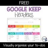 Google Keep Image Headers | FREEBIE |